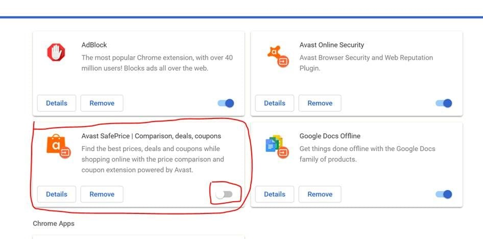 Avast Safe Price Extension for Google Chrome | Real Estate