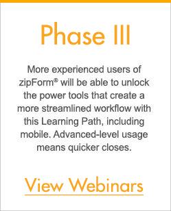Phase III - zipLogix Learning Paths™